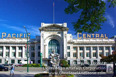 Photograph of Pacific Central Station