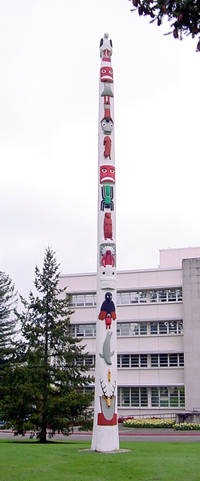 The Story Pole in Olympia, Washington